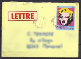 TP N°3628  SUR LETTRE DE 2003/04 - Marcophilie (Lettres)