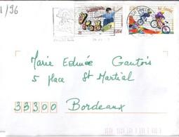 TP N°3691/96 SUR LETTRE DE 2004/05 - Marcophilie (Lettres)