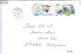 TP N°3693/98 SUR LETTRE DE 2004/05 - Marcophilie (Lettres)