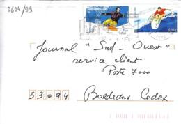 TP N°3694/99 SUR LETTRE DE 2004/05 - Marcophilie (Lettres)