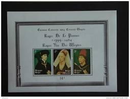 België Belgique 1964 5e Cent. Mort Peintre Rogier Van Der Weyden Portraits Portretten Yv COB Blok Blok BF 36 MNH ** - Blokken 1962-....