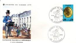 Gerardmer 1975 Vosges - Journée Du Timbre - Facteur - Enveloppe - Marcophilie (Lettres)