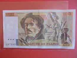 FRANCE 100 FRANCS 1987 ALPHABET G.123 CIRCULER PAS DE TRACES D'EPINGLES ! - 1962-1997 ''Francs''