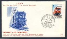 Belgie Belgique Belgium 1969 FDC + Mi 1545 YT 1488 SG 2108 - Mail Train / Posttriebwageneinheit Belgischen Post - Treinen