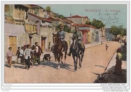 Salonique (Grèce) Un Faubourg  - (animée - Militaires) - Grèce