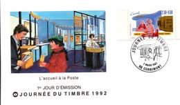 Cornimont Vosges 1992 - Journée Du Timbre - Bureau De Poste - Enveloppe - Marcophilie (Lettres)