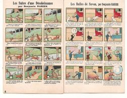 Illustrateur - Rabier Benjamin  - Lot De 2 Cartes - Bulles Savon - Magasin Rousson Chaussures A Lyon - Publicité -  CPA° - Rabier, B.