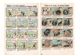 Illustrateur - Rabier Benjamin - Lot De 2 Cartes -  Tintin - BD - Magasin Rousson Chaussures A Lyon - Publicité -  CPA° - Rabier, B.