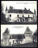 CP 1- 2 CPA ANCIENNES- MAREUIL-SUR-BELLE (24)- LE CHÂTEAU DE BELLEVUE- FAÇADES EST ET OUEST EN GROS PLAN - France