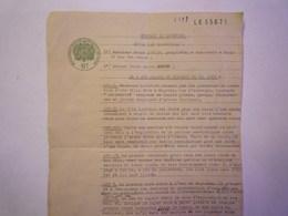 GP 2019 - 789  Document Avec  CACHET FISCAL  6F  Protectorat Français Régence De TUNIS  1942   XXX - Vieux Papiers