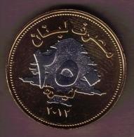 LIBAN LEBANON 250 LIVRES 2012 BIMETAL  Non Circulating Issue - Liban