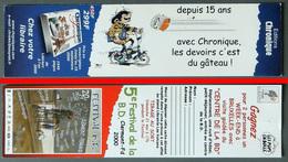Marque-page Signet : Editions Chronique - Gaston LAGAFFE - 5ème Festival De La BD Clermont-Ferrand - 2000 - Marque-Pages