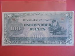 JAPON(OCCUPATION MILITAIRE) 100 RUPEES PEU CIRCULER - Japon