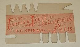 RARE Support De Protection COMPTEUR De POINTS BRIDGE Cartes à Jouer B.P. GRIMAUD - Cartes à Jouer Classiques