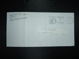 LETTRE PORT PAYE OBL.MEC.3-9 1987 PP 57 SARREBOURG Vitraux De CHAGALL + OBLINGER SA CITROEN - Mechanical Postmarks (Other)