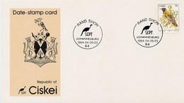 CISKEI  -  JOHANNESBURG 1984  -  RAND SHOW - Ciskei