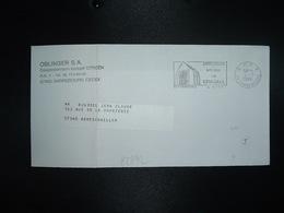 LETTRE PORT PAYE OBL.MEC.4-9 1987 PP 57 SARREBOURG Vitraux De CHAGALL + OBLINGER SA CITROEN - Mechanische Stempels (varia)
