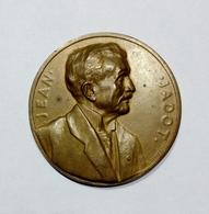 BELGIE / BELGIQUE - MEDAILLE J. JADOT Gouverneur De La Societé Génerale De Belgique (1906-1932) Bronze / 34mm - Professionali / Di Società
