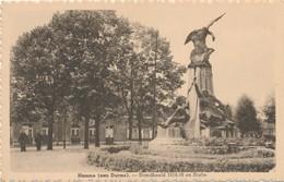 CPA - Belgique - Hamme - Le Monument Et La Gare - Hamme