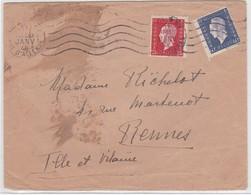 LSC - N°686 + 693 / PARIS XV 11 JANV. 46 - Marcophilie (Lettres)