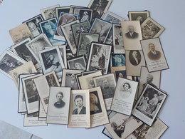 Généalogie  Lot 100 Cartes  Images Mortuaires Avant 1960 Doodprentjes 3 - Décès