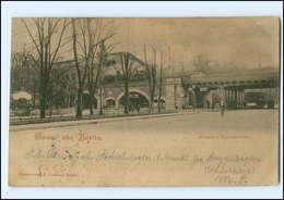 XX003958/ Berlin Bahnhof Tiergarten Straßenbahn 1899 AK - Deutschland