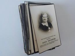 Généalogie  Lot 100 Cartes  Images Mortuaires Avant 1960 Doodprentjes 4 - Décès
