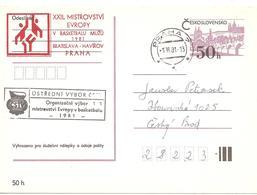 1981 23 ème Championnats D'Europe De Basket-Ball  Masculin:Prague - Basket-ball