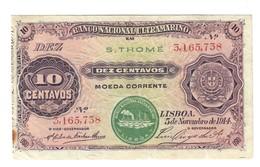 San Tomè 10 Centavos 05 11 1914 Bb+ Lotto.2118 - São Tomé U. Príncipe