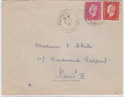LSC - N°685 + 691 - Marcophilie (Lettres)