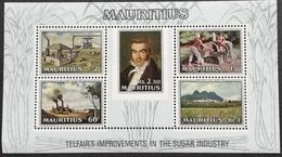 "MAURITIUS 1969 150th .Anniv.,of Telfair""s Improvement Of The Sugar Industry S/S - Mauritius (1968-...)"