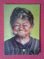 POSTAL POST CARD CARTE POSTALE BÜCHSENMACHER ROSL MUJER MAYOR HUMOR HUMOUR OLD WOMAN SMILE SMILING MÜNCHEN 8347 VE FOTOS - Humor