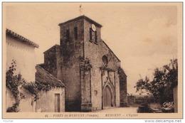 A 16 -  85)  FORET  DE MERVENT (VENDÉE) (MERVENT -  L  'EGLISE - (2 SCANS) - France