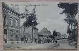 """Scherpenheuvel-Zichem """"Montaigu"""" - La Gare - De Statie - Café Des Pépinières - Circulé - Etat: Voir 2 Scans - Scherpenheuvel-Zichem"""