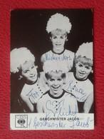 POSTAL POST CARD CARTE POSTALE HERMANAS GESCHWISTER JACOB SISTERS BAND BANDA GRUPO MUSIC MUSICAL GROUP GERMANY VER FOTOS - Chanteurs & Musiciens