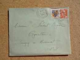 Enveloppe Affranchie Oblitération Savigny En Revermont 1954 - Marcophilie (Lettres)