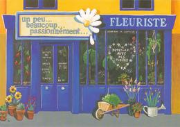 CPM MAGASIN METIER BOUTIQUE FLEURISTE - Dites Le Avec Des Fleurs ! Illustration Béatrice Douillet - Professions