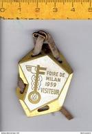 M W -SOL- FOIRE DE MILAN VISITEUR 1959 - Italia