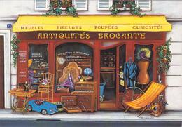 CPM MAGASIN METIER BOUTIQUE ANTIQUITES BROCANTE Illustration Fernando Da Cunha - Métiers