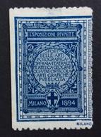 SPORT BELLE ARTI MILANO 1894 ESPOSIZIONI RIUNITE   ETICHETTA PUBBLICITARIA - Erinofilia