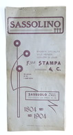 Storia Modena - Calendario 1905 Sassolino Distilleria F.lli Stampa - Sassuolo - Calendars