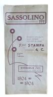 Storia Modena - Calendario 1905 Sassolino Distilleria F.lli Stampa - Sassuolo - Calendari