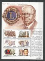 Nicaragua 2000 Lions Club Sheet  Y.T. 2419/2424 ** - Nicaragua