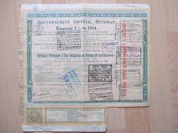 BANQUE & ASSURANCE - GOUVERNEMENT IMPERIAL OTTOMAN - EMPRUNT 5 % DE 1914 -   /////   RARE   //// - Banque & Assurance