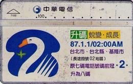 TARJETA TELEFONICA DE TAIWAN. 87.1.1/02:00AM. 722M. 7132. (049). - Taiwan (Formosa)