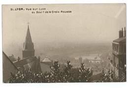CPA 69 LYON VUE SUR LYON DU BOULEVARD DE LA CROIX-ROUSSE - Autres
