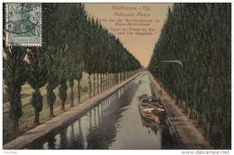 H10- 68) MULHOUSE (HAUT RHIN) CANAL DU RHONE AU RHIN VERS L'ILE NAPOLEON  - (PENICHE) - Mulhouse