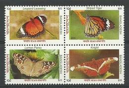 Bangladesh 2012 Butterflies 4-block Y.T. 969/972 ** - Bangladesh