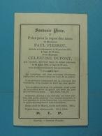 Paul Pierkot Culdessarts 1883 Et Son épse Célestine Dupont 1884 - Images Religieuses
