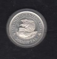1989.-  5000 PTAS PLATA  V CENTENARIO. - 5 000 Pesetas
